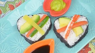 Valentine's Day Heart Shaped Sushi Appetizer Recipe