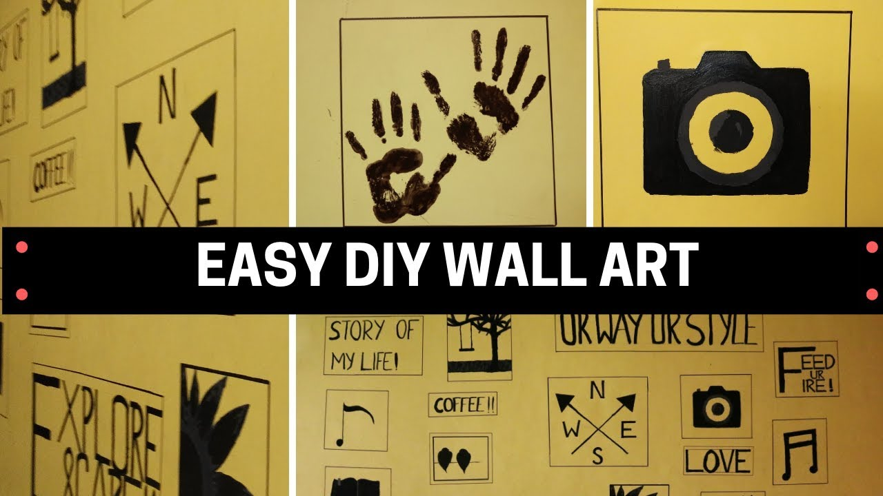 DIY Wall Art | Easy Wall Decor Ideas | Wall Painting | Diarytale ...