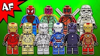 Custom Chrome Lego Super Heroes Minifigures Collection