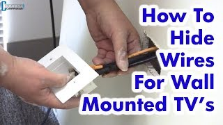 How To Hide Wires For Wall Mounted Tv   Easy Diy