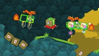 Bad Piggies - TAKING THE TREASURE CRATE ON TWO DRAGON PLANE!