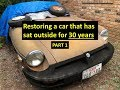 Restoring a 1978 MG that sat outside for 30 years! Part 1 #MG #MGB #Restore
