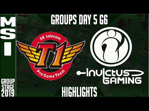 SKT vs IG Highlights | MSI 2019 Group Stage Day 5 | SK Telecom T1 vs Invictus Gaming