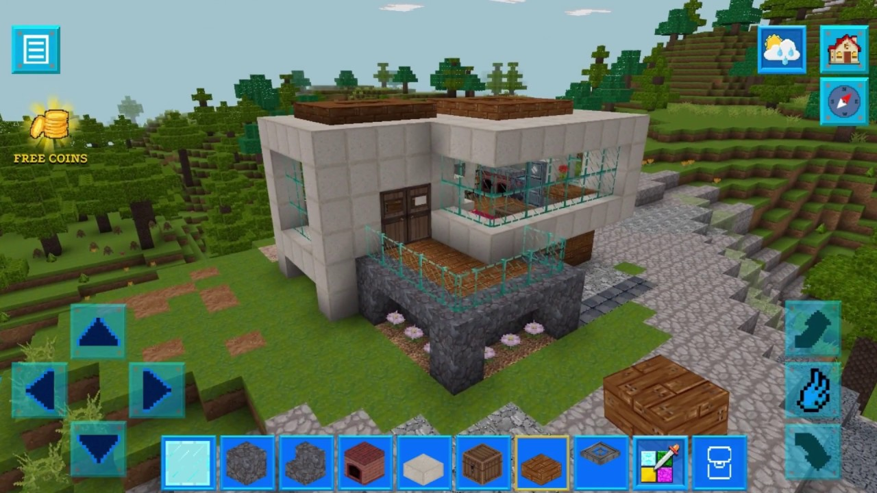 Realmcraft Skins Export To Minecraft Modern House Building Youtube