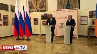 Министры иностранных дел Армении и России открыли выставку в Ереване