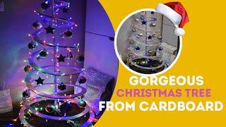 Шикарная стильная елка из обычного картона своими руками!❄️DIY Christmas Tree