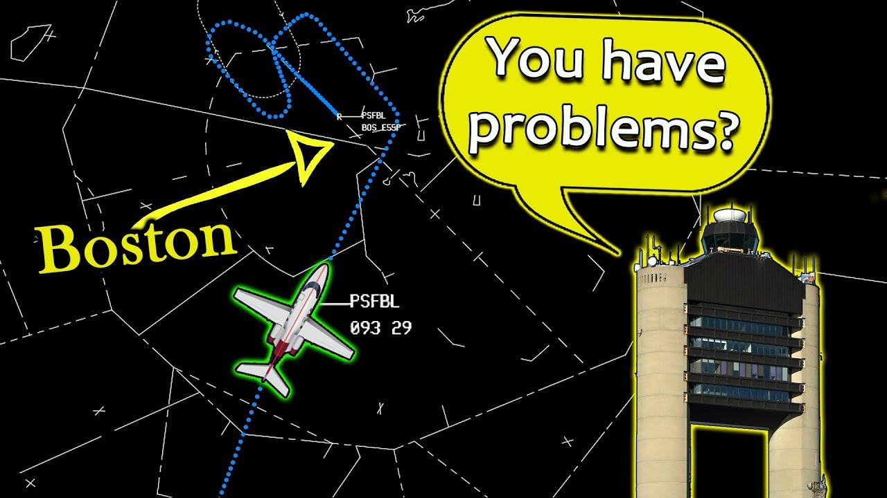 Pilot has Difficulties to follow ATC instructions at Boston