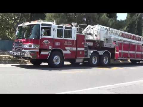 Sacramento Metro Fire District Engines 21, 110 & 65, Trucks 106 & 65 & Investigator Responding