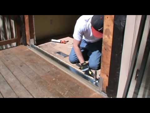 Installing a sliding patio door