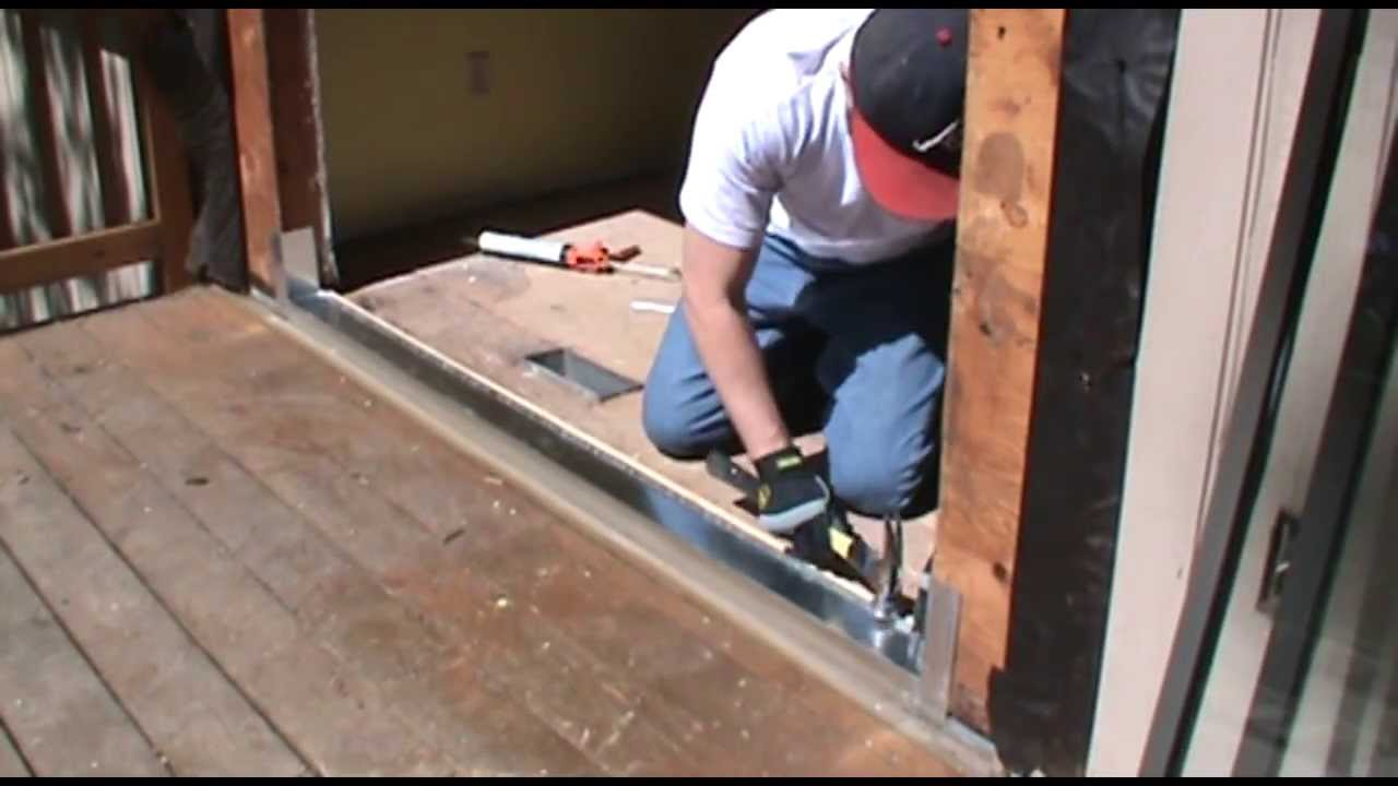 installing a sliding patio door youtube