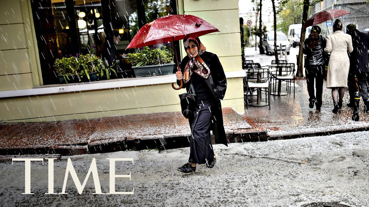 Video Footage Of The Raging Hail Storm In Istanbul | TIME