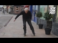This 79-year-old man is a rollerblading renegade