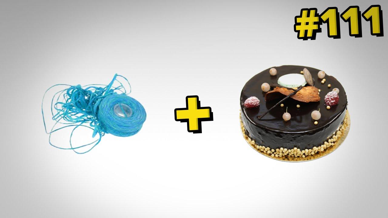 Jak idealnie pokroić tort - lifehack z nitką