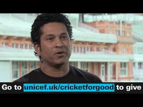 Sachin Tendulkar about of the importance of children living an active lifestyle