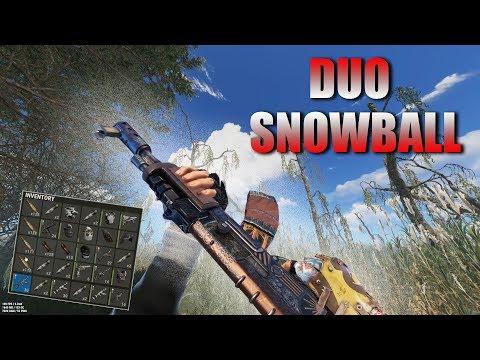 Rust   The DUO SNOWBALL (Counter Raiding & PvP Highlights)