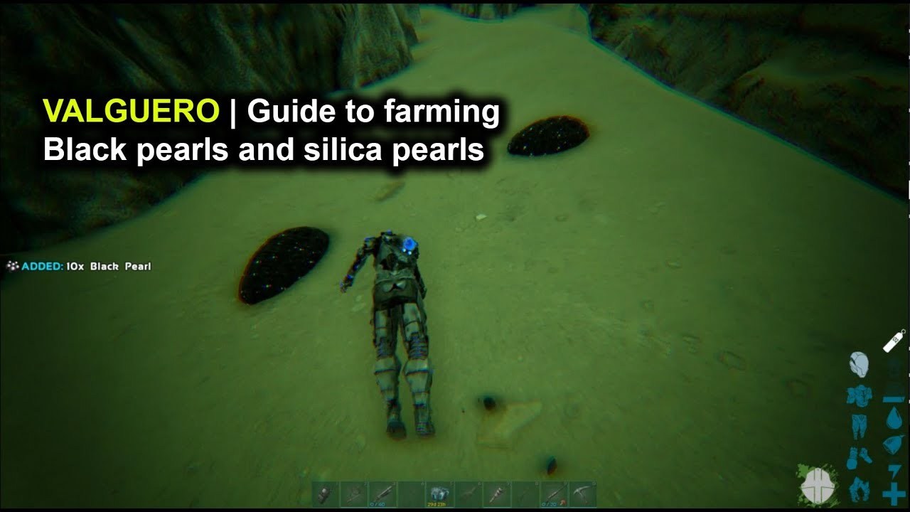 Ark Valguero Guide To Farming Black Pearls And Silica Pearls Youtube The command admincheat giveitem blueprint'/game/primalearth/coreblueprints/resources/primalitemresource_blackpearl.primalitemresource_blackpearl' 1 1 0 will spawn black pearl. ark valguero guide to farming black pearls and silica pearls
