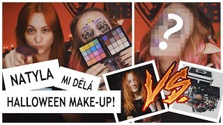 NATYLA MI DĚLÁ HALLOWEENSKÝ MAKE-UP!