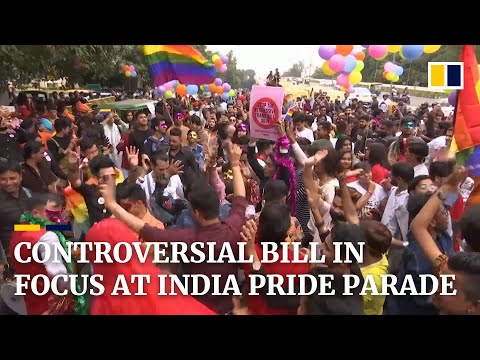 India's LGBT Community Protests Against Transgender Law At Delhi Pride Parade