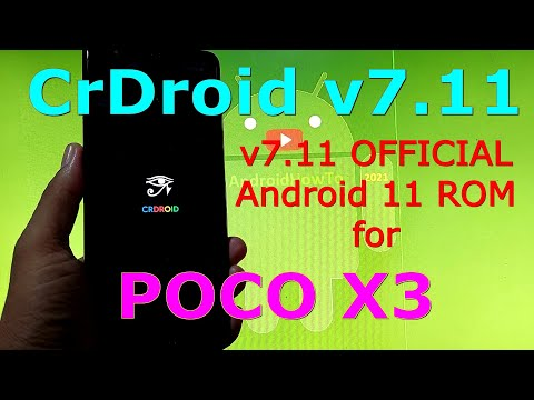CrDroid v7.11 OFFICIAL for Poco X3 NFC (Surya) Android 11