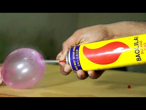 Amazing Magic Trick with Butane-gas and baloon...