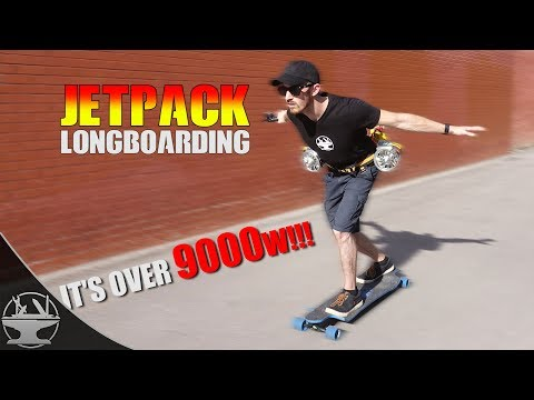 JET POWERED LONGBOARD!