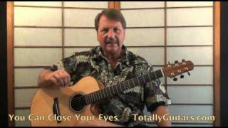 James Taylor - You Can Close Your Eyes Acoustic Guitar lesson