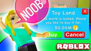 NOOB CAN'T GET 50M COINS! 😭 | Roblox Bubble Gum Simulator