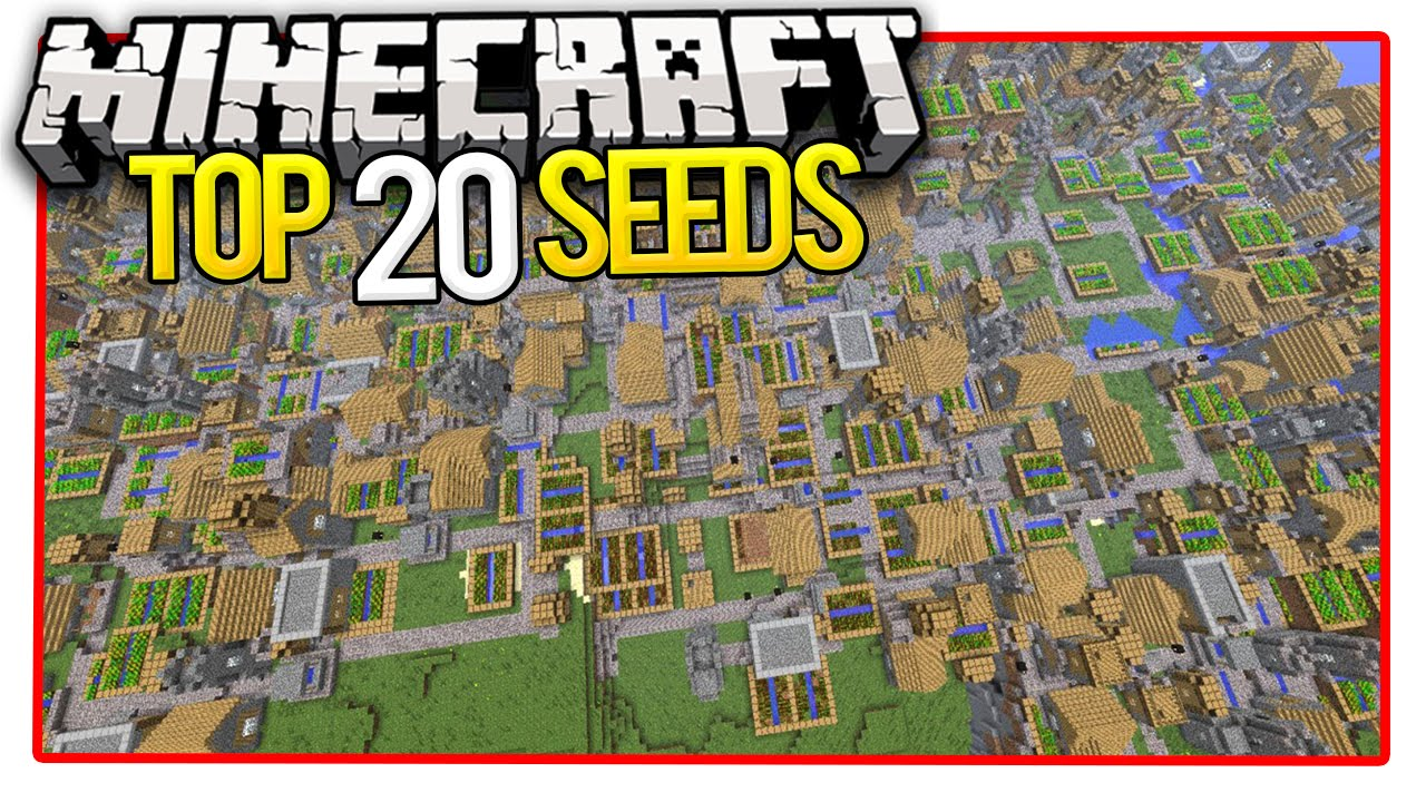 Minecraft Top  Seeds Minecraft Pe Seeds Minecraft Pc Seeds  Youtube