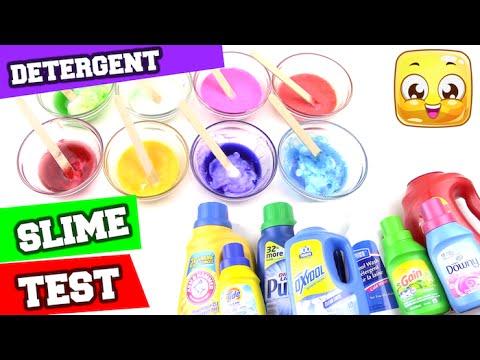 Best Detergent For SLIME TEST DIY How To Make Slime ...