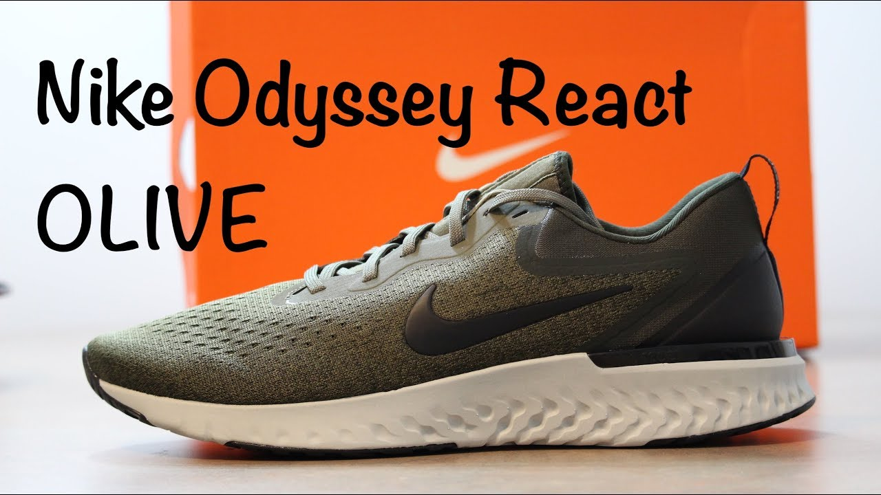 5b9c8960640 Nike Odyssey React - Olive - Quick Look   On Feet - YouTube
