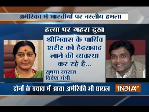 Sushma Swaraj Expresses Grief on Death of Indian Engineer at Kansas Bar