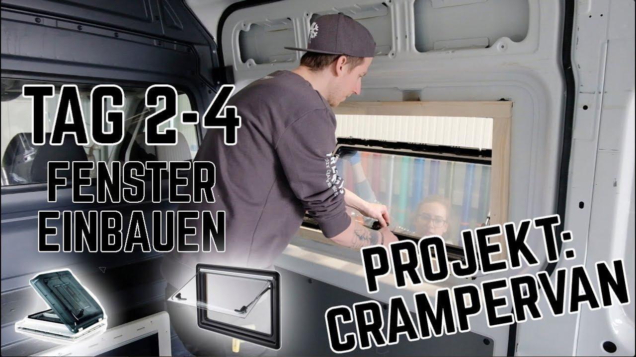 Fenster einbauen im DIY CAMPERVAN - Dometic S9 / Fiamma Vent  Crampervan  Projekt Tag 9-9