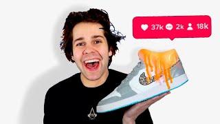 Customizing Sneakers For David Dobrik - Chipotle Challenge ft. ZHC 👟🎨(TikTok Challenge)