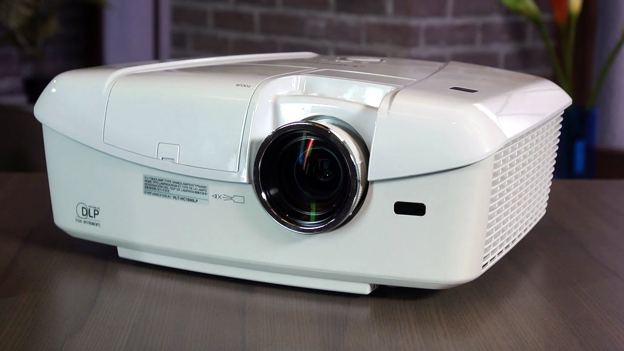 mitsubishi dlp projector short on light - youtube