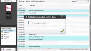 sende sms via nokia pc suite