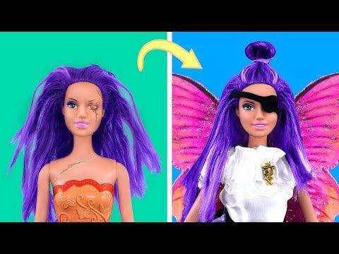 20 лайфхаков для старых кукол Барби / Пиратская вечеринка для кукол