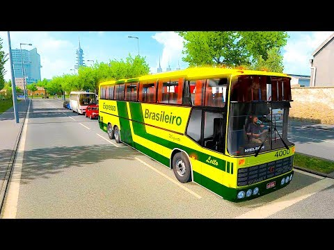 Scania Nielson Bus on European Road Hannover to Nuremberg Euro Truck Simulator 2 Ets2 1.34