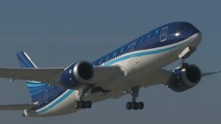 Boeing 787 Azerbaijan Airlines first time in Prague, 5.2.2015