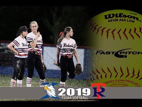 2019 TSSAA Softball Jackson Christian School @ Tipton Rosemark Academy