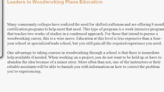 Woodworking Schools, Woodworking Plans, And Woodworking Projects