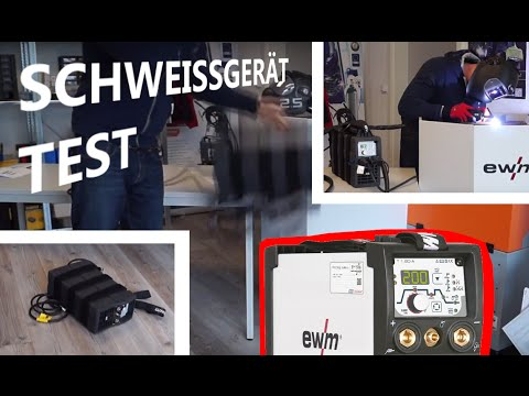schwei ger t test robuster wig inverter falltest ewm. Black Bedroom Furniture Sets. Home Design Ideas