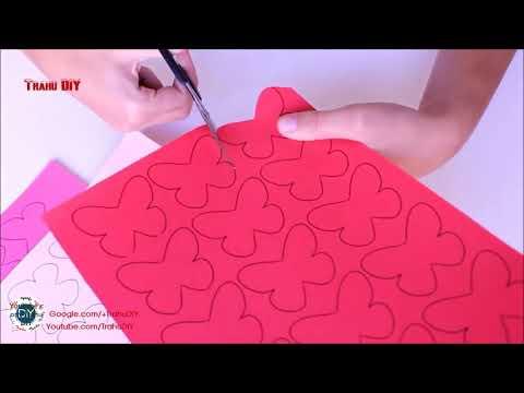 DIY  Butterflies Wall Room Decor    Make Paper Butterflies   Easy Paper Crafts