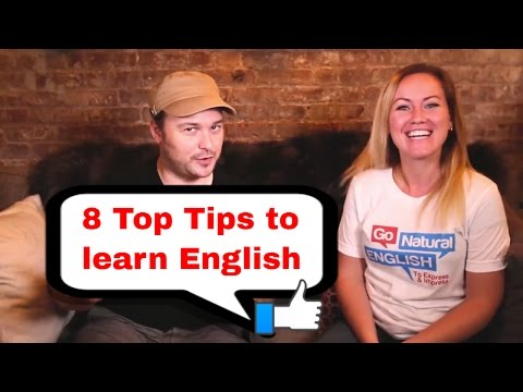 "8 Top Tips to Learn English 🇬🇧/🇺🇸: Benny chats to Gabby from ""Go Natural English"" (with subtitles)"