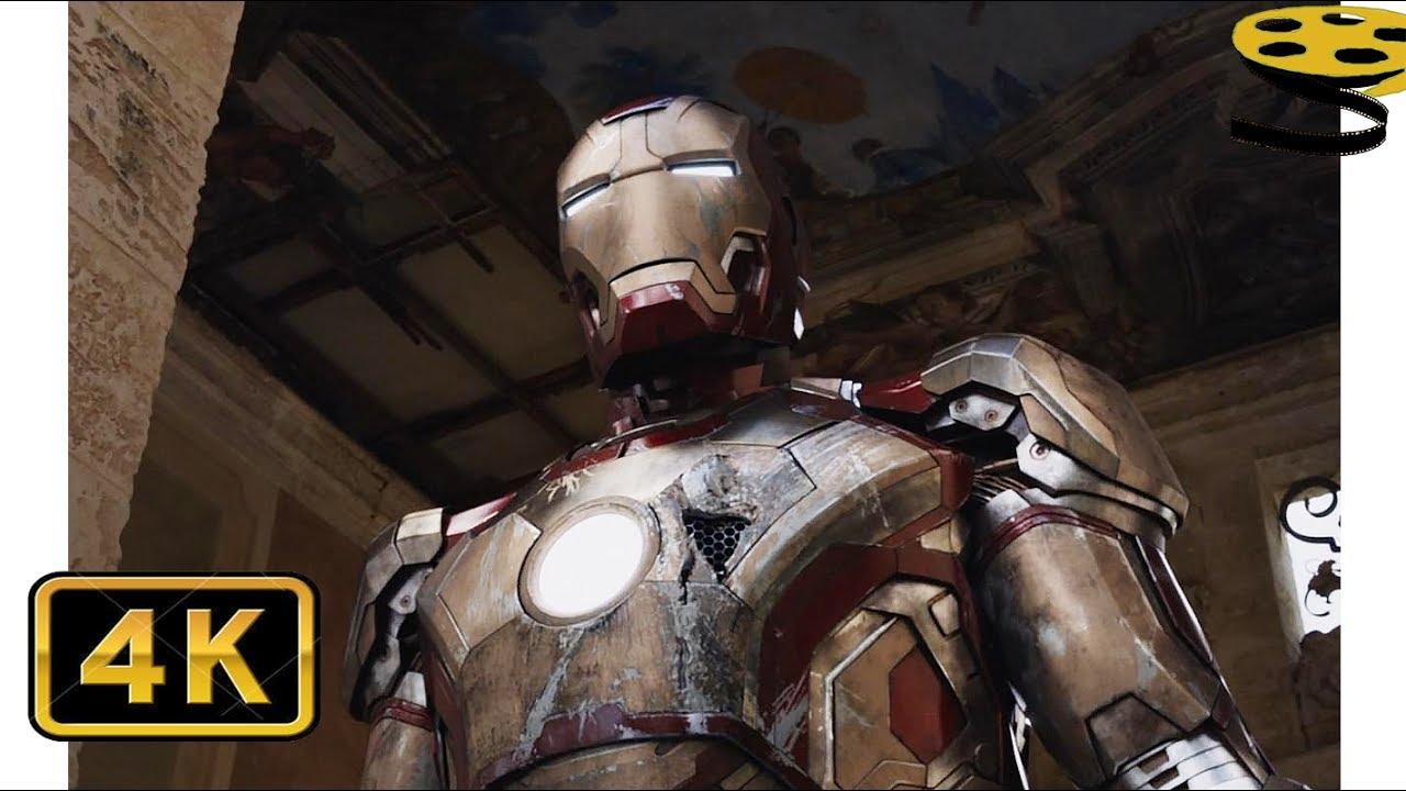 Тони Старк возвращает Свой Костюм(Марк 42). Сцена Бегства ...