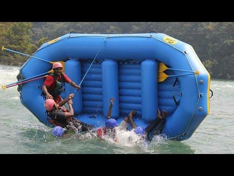 Dandeli River Rafting 2018 | Boat Falling | Rescue | Ganeshgudi