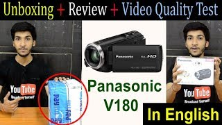 Panasonic HC V180 Full HD Camcorder Unboxing and Hands-On Review | Best Budget Camera for YouTube ?