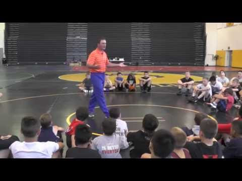 Oklahoma State Head Coach John Smith gives Master Clinic on Stance and Motion (1 of 17)
