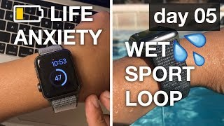 Apple Watch 3⌚️LTE Review Day 5 | Battery Life Anxiety and Sport Loop getting WET | 4K