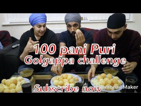 100 Pani Puri challenge   golgapa