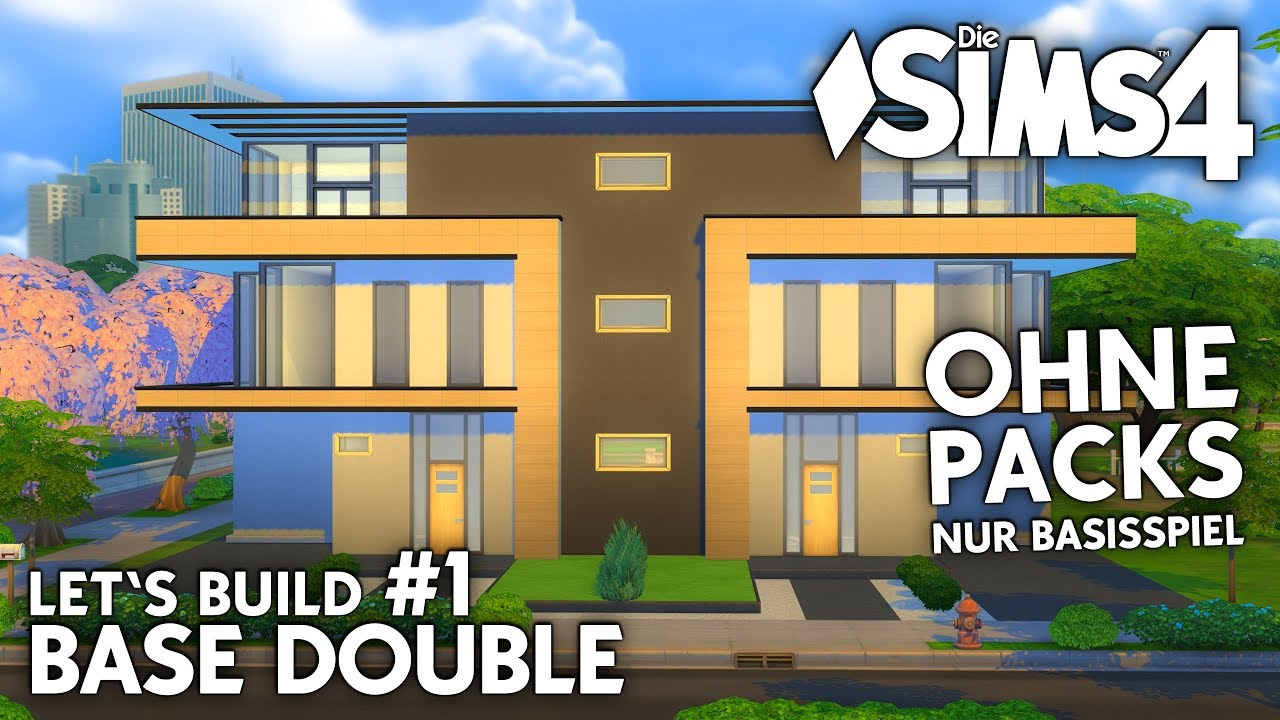 die sims 4 haus bauen ohne packs base double 1. Black Bedroom Furniture Sets. Home Design Ideas